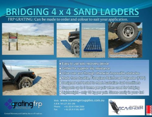 4×4 sand ladders bog mats made from FRP Grating