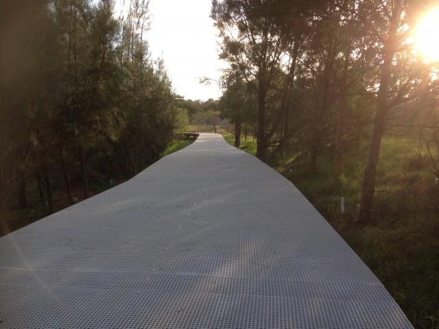 frp-mini-mesh-grating-tallawarra-shareway FRP Mini Mesh Grating - Tallawarra Shareway Mini Mesh Grating FRP Australia Grating FRP Decking Boardwalk