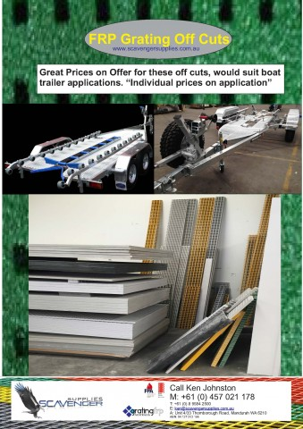 "off-cuts-frp-grating Off Cuts ""FRP Grating"" Off-cuts FRP Grating Boat Trailers"